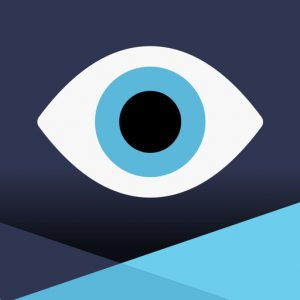 Resource in Focus Icon - Square with with eye inside