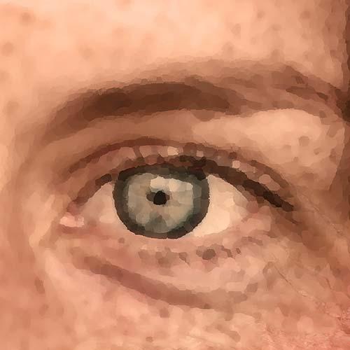 Mosaic Image Of Human Eye